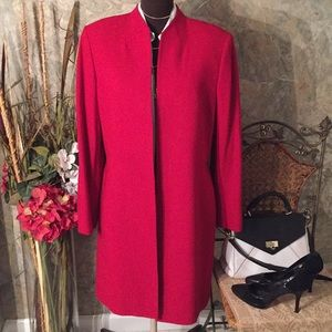Tahari 🌹dark rich red suit jacket coat blazer